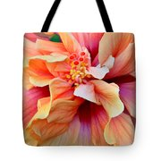 Coloring Book Hibiscus Tote Bag
