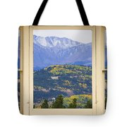 Colorful Rocky Mountain Autumn Picture Window View Tote Bag