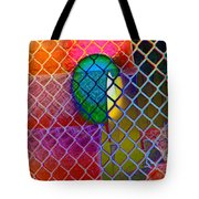 Colors Hiding Behind Fence Tote Bag