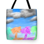 Colors Of The Palms Tote Bag
