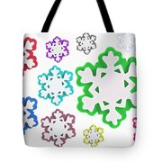 Coloured Snowflakes Isolated Tote Bag