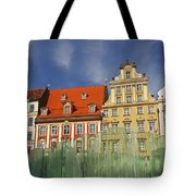 Colourful Buildings And Fountain Tote Bag