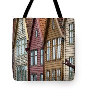 Colourful Houses In A Row Bergen Norway Tote Bag