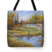 colours Of Elk Island Tote Bag