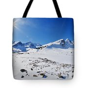 Columbia Icefield In Winter, Jasper Tote Bag
