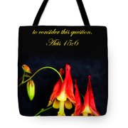 Columbine And Acts 15 16 Tote Bag