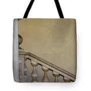 Column And Stairway At Wawel Castle In Krakow Poland Tote Bag