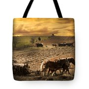 Combining And Thrashing Beans Tote Bag
