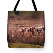 Combining Soybeans Tote Bag