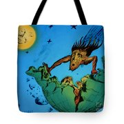 Comet Colliding With Earth Tote Bag