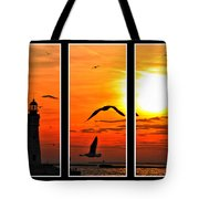 Coming Home Sunset Triptych Series Tote Bag