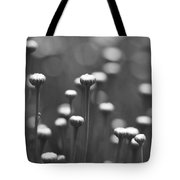 Coming Up Daisies Abstract In Black And White Tote Bag
