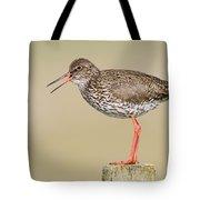 Common Redshank Tringa Totanus Calling Tote Bag