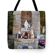 Comparison Mother Mary Shrine Tote Bag