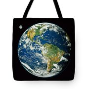 Composite Image Of Whole Earth Blue Tote Bag