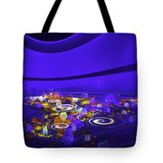 Computer Generated Blue Abstract Fractal Flame Modern Art Tote Bag