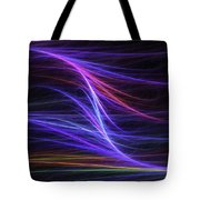 Computer Generated Blue Magenta Abstract Fractal Flame Modern Art Tote Bag