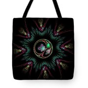 Computer Generated Flower Abstract Fractal Flame Modern Art Tote Bag