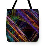 Computer Generated Lines Abstract Fractal Flame Modern Art Tote Bag