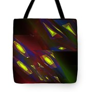 Computer Generated Triangles Abstract Fractal Flame Abstract Art Tote Bag