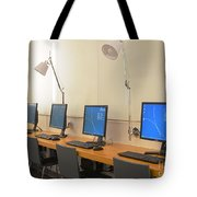 Computer Lab In A Simulation Medical Tote Bag