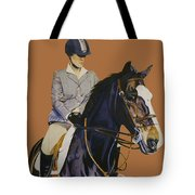 Concentration - Hunter Jumper Horse And Rider Tote Bag