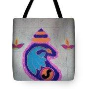 Conch Design Rangoli Tote Bag