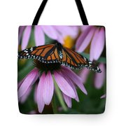 Cone Flowers And Monarch Butterfly Tote Bag