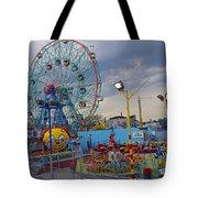 Coney Island Amusements Tote Bag