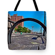 Coney Island Bench View Tote Bag