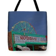 Coney Island Facade Tote Bag