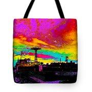 Coney Island In Neon B Flat Minor Tote Bag