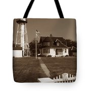 Coney Island Lighthouse Tote Bag by Skip Willits