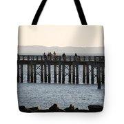 Coney Island Pier Tote Bag