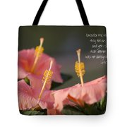 Consider The Lilies How They Grow Tote Bag