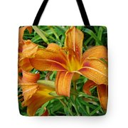 Consider The Lilies Of  The Field - Hemerocallis Fulva Tote Bag