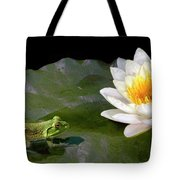 Contemplating A Lily Tote Bag