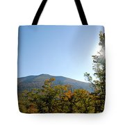 Conway Scenic Railroad  - Longtrack View Tote Bag by Geoffrey Bolte