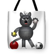 Cool Alley Cat Athlete Tote Bag by Rose Santuci-Sofranko