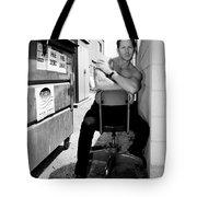 Cool Alley Cat Bw Palm Springs Tote Bag