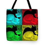 Cool Cat Pop Art Tote Bag