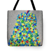 Cool Crazy Pear Abstract Painting Tote Bag