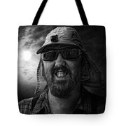 Cool Hat Monochrome Tote Bag