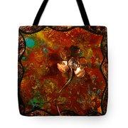 Copper Flower Tote Bag