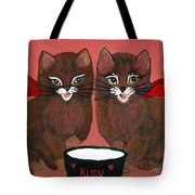 Copper Kitty Tote Bag
