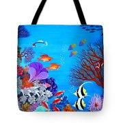 Coral Garden Tote Bag