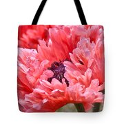 Coral Poppy Tote Bag