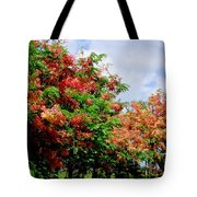 Coral Shower Trees Tote Bag