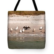 Cormorant Stands Out Tote Bag