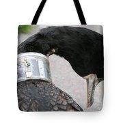 Cormorant With Radio Collar Tote Bag